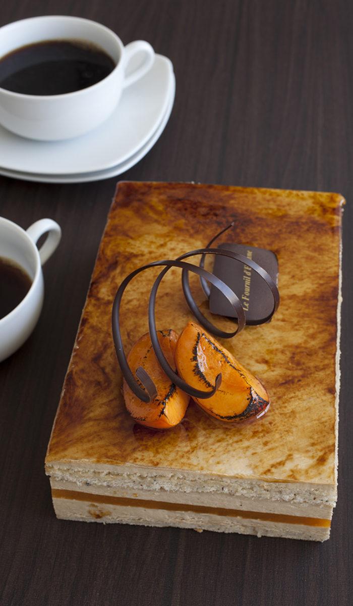 Bavarois noisette purée d'abricot