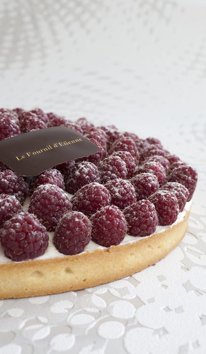 Pâte sucrée crème chantilly framboises fraiches